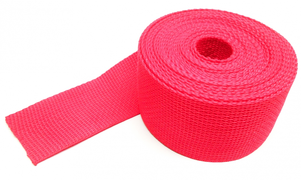 Spanband rood op rol 5 meter 50mm breed