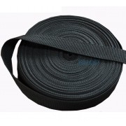Spanband zwart op rol 50 meter 50mm breed